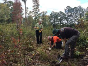 More than 40 volunteers helped plant milkweed at Buffalo Creek Preserve in Mt. Pleasant, NC.