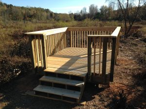 Waterfowl Impoundment Observation Deck at Catawaba Springs Preserve