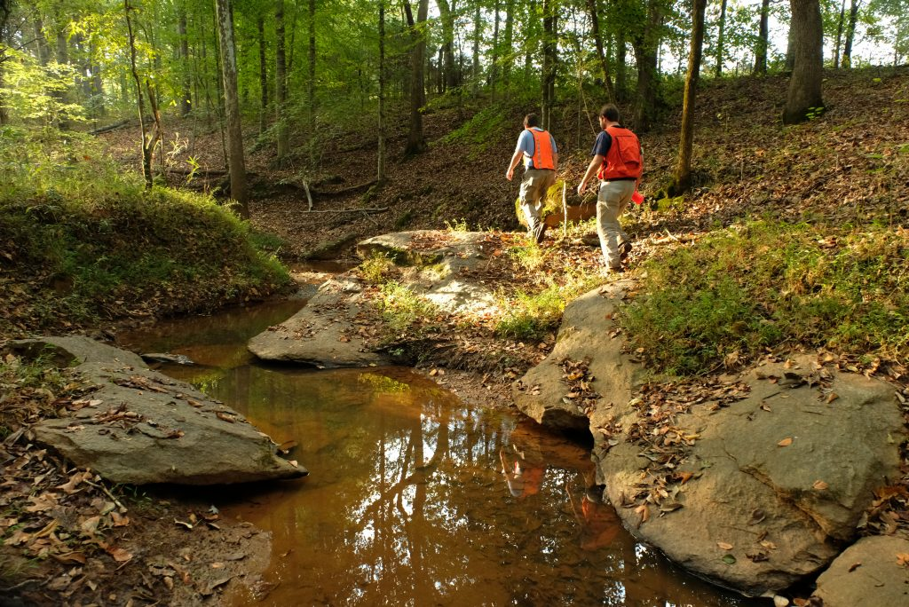 Sean Bloom and Sam Kirk visited the Viles Preserve in Catawba County, upper South Fork River. The creeks shown here are tributaries of the South Fork.