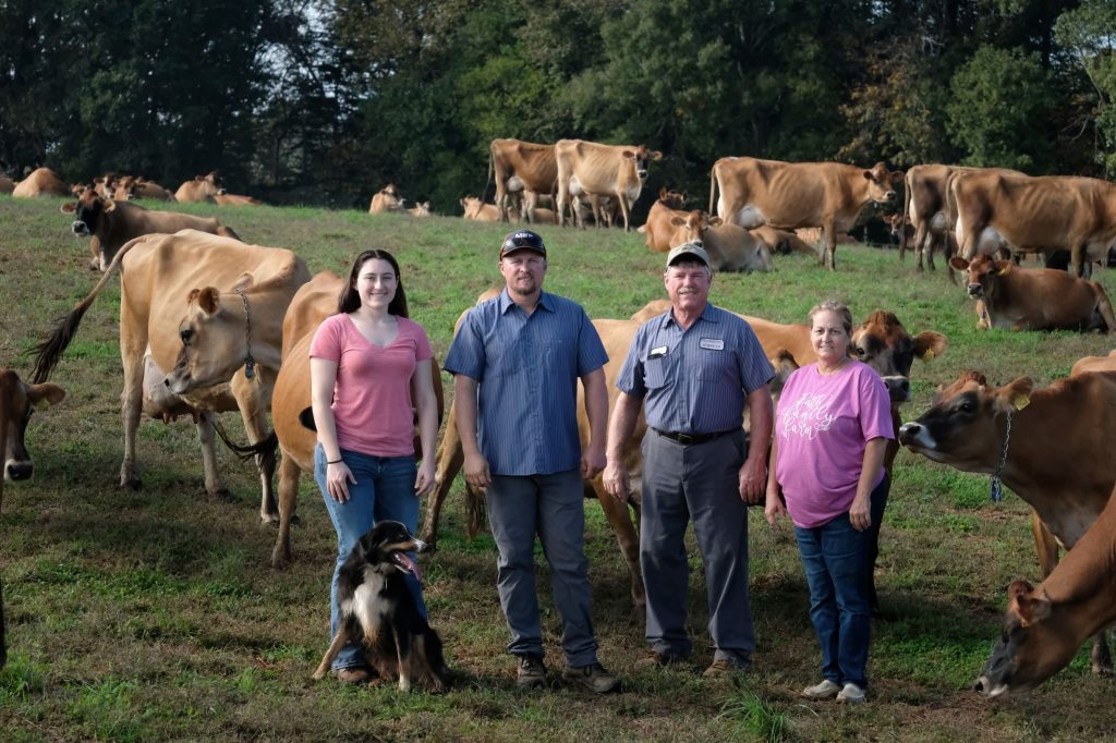 The Lutz family, owners of Piedmont Jersey Farm. Photo by Nancy Pierce.